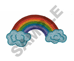 RAINBOW AND CLOUDS embroidery design