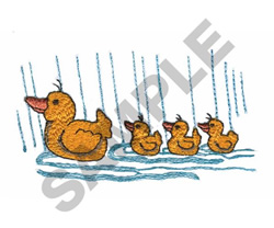 DUCK WITH DUCKLINGS embroidery design