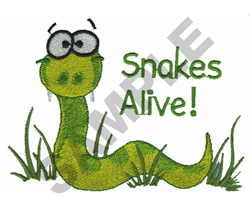 SNAKES ALIVE embroidery design