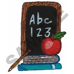 ABC 123 ON CHALK BOARD embroidery design
