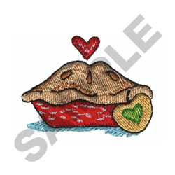 FRESH BAKED APPLE PIE embroidery design