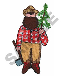 LUMBER JACK WITH TREE embroidery design