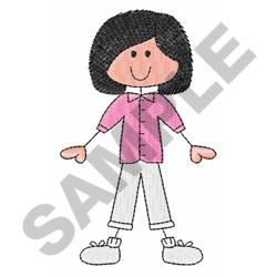 stick figure machine embroidery designs