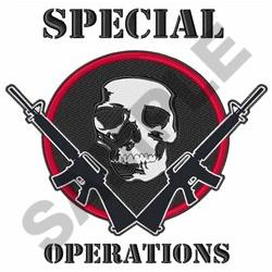 SPECIAL OPERATIONS embroidery design