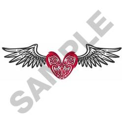 HEART WITH WINGS embroidery design