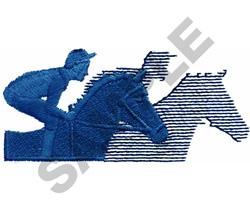 RACEHORSES AND JOCKEYS embroidery design