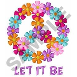 LET IT BE embroidery design