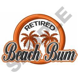 RETIRED BEACH BUM embroidery design