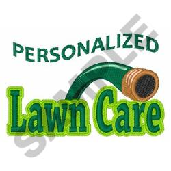 PERSONALIZED LAWN CARE embroidery design