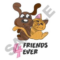 FRIENDS 4 LIFE embroidery design