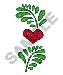 LEAVES WITH A HEART embroidery design