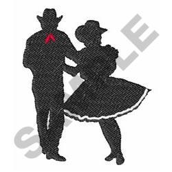 SQUARE DANCERS embroidery design