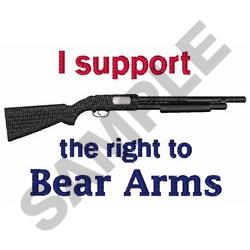RIGHT TO ARMS embroidery design