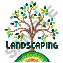 LANDSCAPING embroidery design