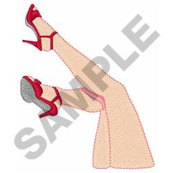 WOMANS LEGS embroidery design