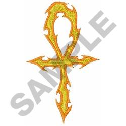 CROSS OF FLAMES embroidery design