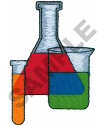 BEAKERS embroidery design