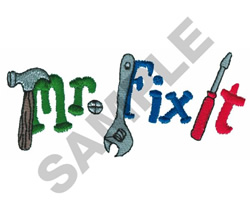MR. FIX IT embroidery design