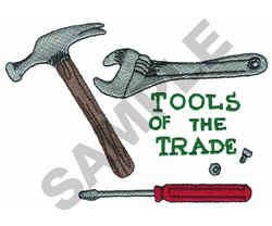 TOOLS OF THE TRADE embroidery design