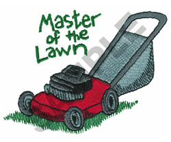 MASTER OF THE LAWN embroidery design
