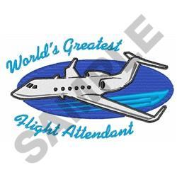 GREATEST FLIGHT ATTENDANT embroidery design