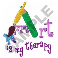 ART IS MY THERAPY embroidery design