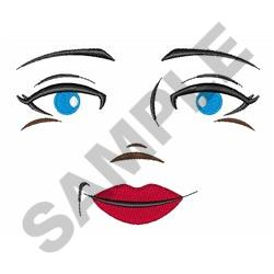 DOLL FACE WOMAN embroidery design