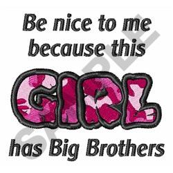 GIRL HAS BROTHERS embroidery design