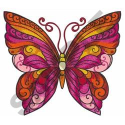 LARGE BUTTERFLY embroidery design