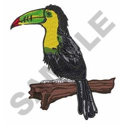 TOUCAN ON BRANCH embroidery design