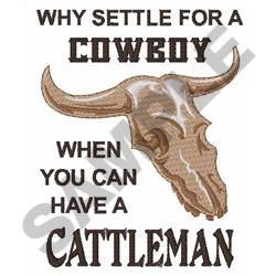 COWBOY OR CATTLEMAN embroidery design