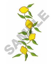 LEMON VINE embroidery design