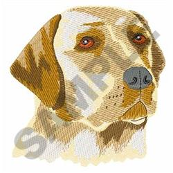 YELLOW LABRODOR embroidery design