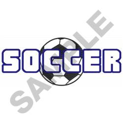 OPEN SOCCER W BALL embroidery design