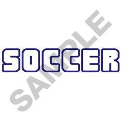 OPEN SOCCER LETTERS embroidery design
