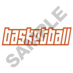 OPEN BASKETBALL embroidery design