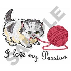 I LOVE MY PERSIAN embroidery design