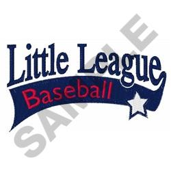 LITTLE LEAGUE BASEBALL embroidery design
