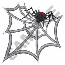 BLACK WIDOW SPIDER WEB embroidery design