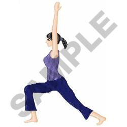 YOGA LADY embroidery design
