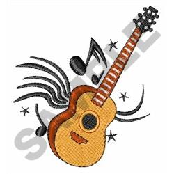ACOUSTIC GUITAR MUSIC embroidery design