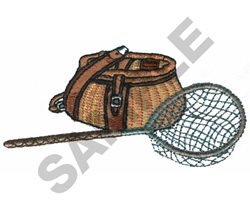 FISHING BAG & NET embroidery design