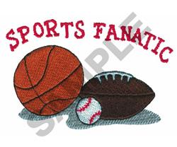 SPORTS FANATIC embroidery design