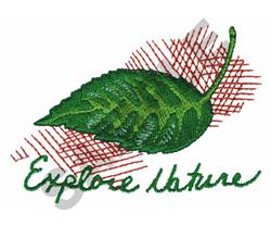 EXPLORE  NATURE embroidery design