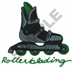 ROLLERBLADING embroidery design