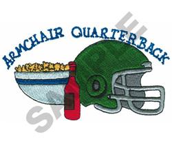 ARMCHAIR QUARTERBACK embroidery design