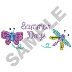 SUMMER DAYS embroidery design