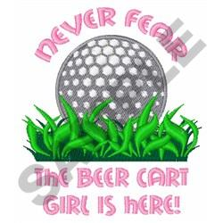 BEER CART GIRL embroidery design