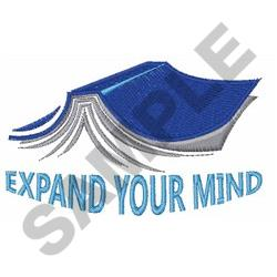 EXPAND YOUR MIND embroidery design