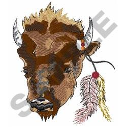 BUFFALO WITH FEATHERS embroidery design